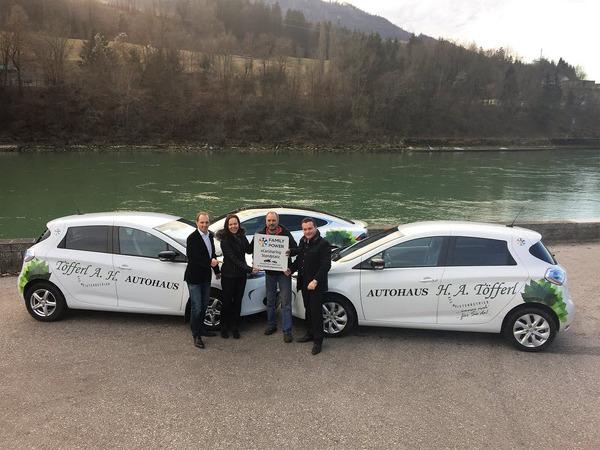 Fotoshooting 26.01.2016, v.l.n.r. Gerd Ingo Janitschek, Maria Aichberger, Arthur Töfferl / Autohaus Töfferl, Harald Reichl